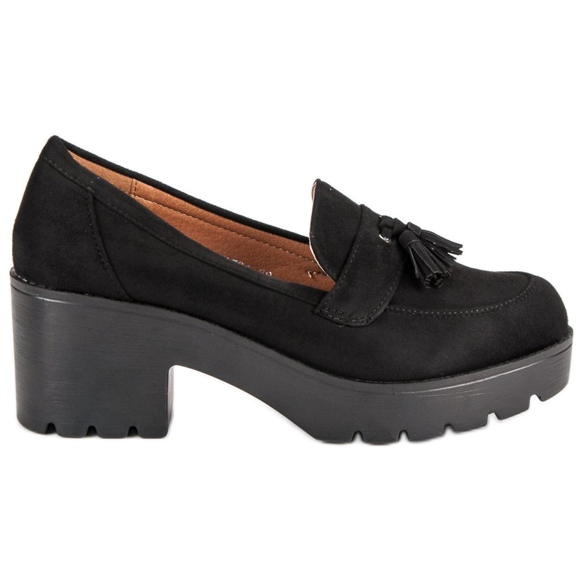Ch. Creation Pantofi elegant pentru loafers negru