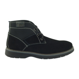 McKey negru Pantofi din piele de piele pentru piept 284