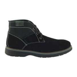 McKey Pantofi din piele de piele pentru piept 284 negru