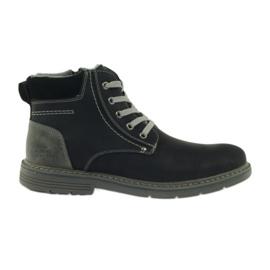 McKey Boots pentru bărbați, negri, legați 288
