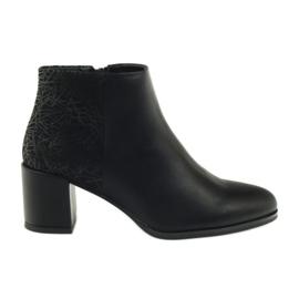Negru Pantofi negri cu toc inalt Sergio Leone 542