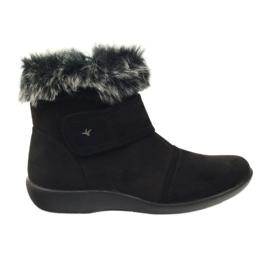 Boots super negru confortabil Aloeloe