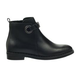 Edeo cizme negre 3243 negru