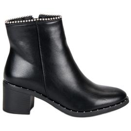 Seastar Elegant Boots Black Glezna negru