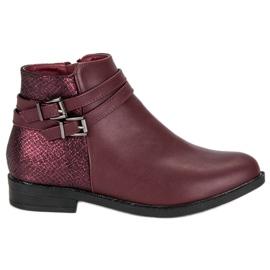 Anesia Paris roșu Femei cu cizme mici