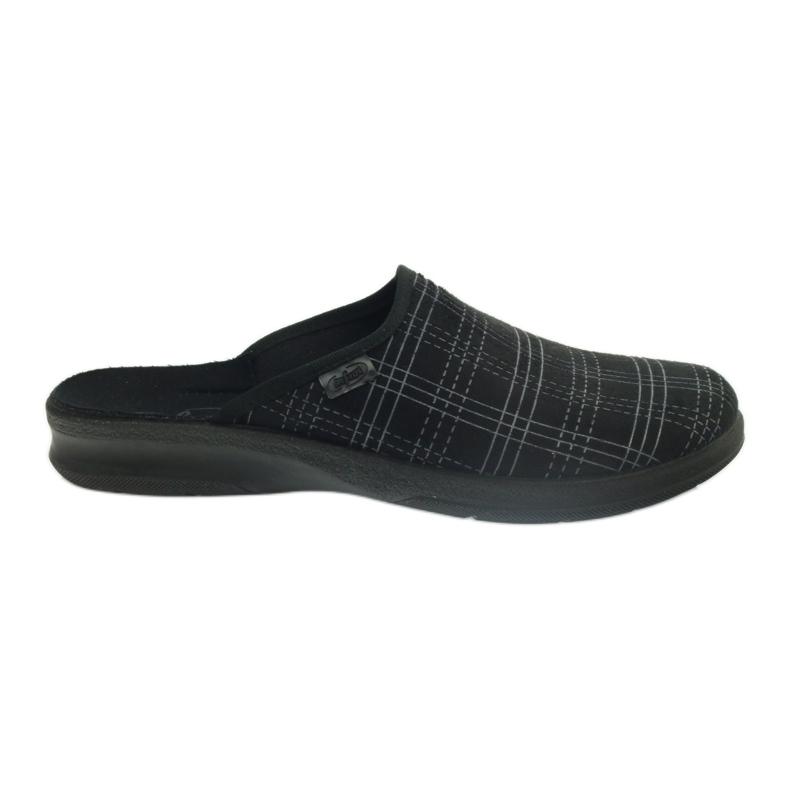 Befado Bepado bărbați papuci papuci papuci 548m011 negru