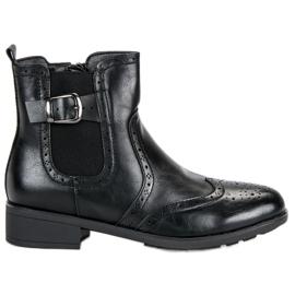 Filippo Black cizme Jodhpur negru