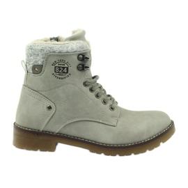 Pantofi gri, panglici DK2025
