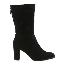 Negru Cizme cizme negre Sergio leone