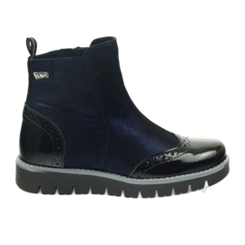 Ren But Bocanci calzi Ren Boot 4379 albastru maro