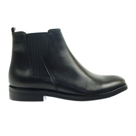 Negru Edeo cizme de culoare neagră 3244