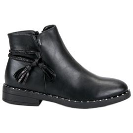 Filippo Flat Boots Femei negru