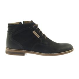 Negru Riko pantofi bărbați jockies bărbați pe fermoar