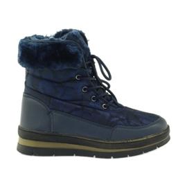 Bleumarin Sport cizme de zăpadă pe blană DK