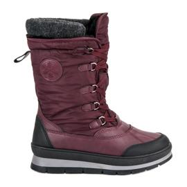 Mckeylor roșu Cizme de zăpadă visinabile la modă