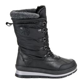 Mckeylor negru Cizme de zăpadă neagră la modă