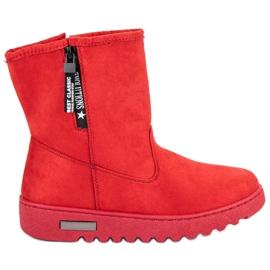 Mckeylor Cizme de piele izolată roșu