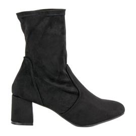 Kylie Slip-on Boots Suede negru