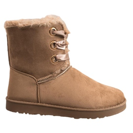 Kylie Legat cizme de zăpadă maro