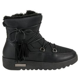 Negru MCKEYLOR cizme de zăpadă