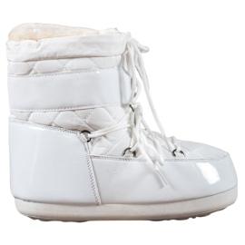 Alb Modă cizme de zăpadă