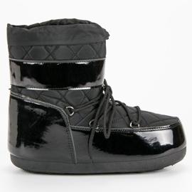 Negru Modă cizme de zăpadă