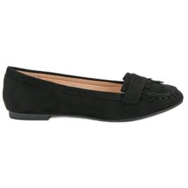 Small Swan Black Loafers negru