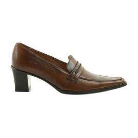 Pantofi din piele Eksbut 864 maro