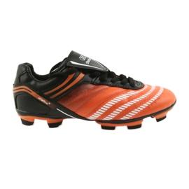 Pantofi de fotbal Atletico FG Jr 14-1216 negru, portocaliu portocaliu