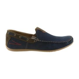 Riko mocasin pantofi bărbați albastru 781