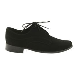 Pantofii Miko suede pantofi de comuniune negru