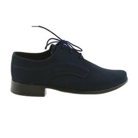 Pantofii Miko suede pantofi de comuniune bleumarin