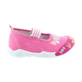 American Club roz Pantofi americani pentru copii adidași pe un branț din piele elastică
