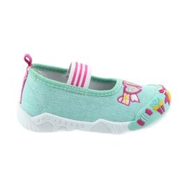 American Club verde Pantofi americani pentru copii adidași pe un branț din piele elastică