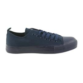 Bleumarin Pantofi bărbați legați adidași albastru American Club LH05