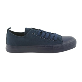 Pantofi bărbați legați adidași albastru American Club LH05 bleumarin