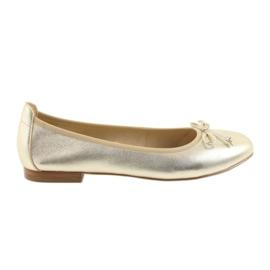 Galben Caprice balerine pantofi de aur pentru femei 22102