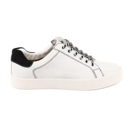 Pantaloni albi pentru femei Caprice 23203 lățime reglabilă