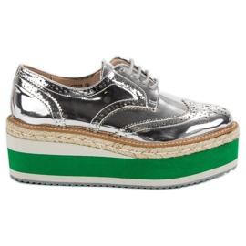 Corina Moda pantofi Wedge gri