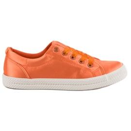 Kylie Pantofi din satin portocaliu