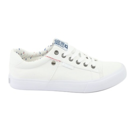 """Big Star Pantofi de mari dimensiuni pentru bărbați din categoria """"Bărbați mari"""" legați în alb 174097"""
