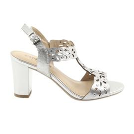 Gri Caprice sandale deschise 28315 argintiu