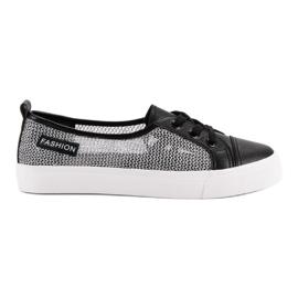 MCKEYLOR Sneakers din plasă negru