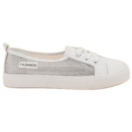 MCKEYLOR Sneakers din plasă alb