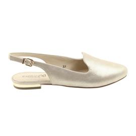 Pantofi de aur pentru femei de la Caprice lordsy 29400 galben