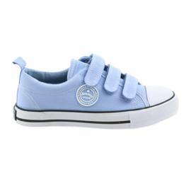 Sneakers pentru copii velcro pantofi American Club albastru LH49