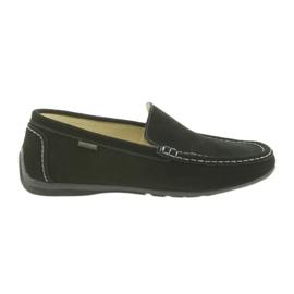 Negru Loafers pantofi din piele pentru bărbați American Club 01/2019