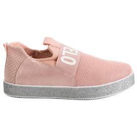 Bestelle roz Pantofi de brocadă cu înclinare