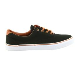 American Club Pantofi negri pentru bărbați LH03