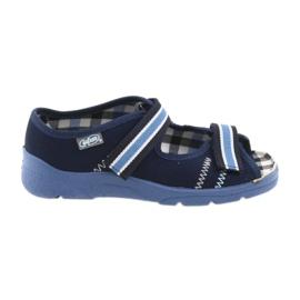 Sandale pantofi pentru copii Velcro Befado 969x101 albastru bleumarin